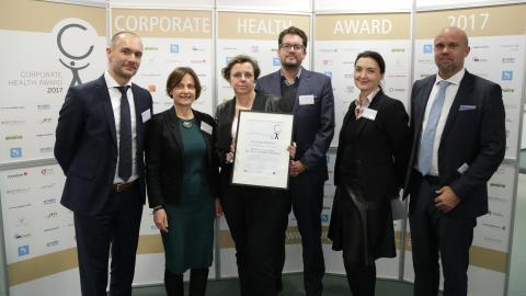 Verleihung des Siegels beim Corporate Health Award